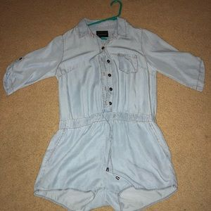 Velvet Heart Denim inspired Romper